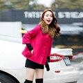 Capa de lana chaqueta de las mujeres párrafo corto chaqueta de las mujeres de Corea del chal de lana de invierno de las mujeres abrigo de lana