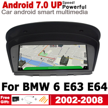 Car Android radio GPS Navi Map multimedia player For BMW 6 E63 E64 2002 2003 2004 2005 2006 2007 208 CCC Navigation WiFi hansa boes68577