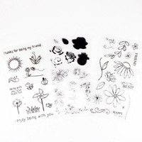 Clear Scenery Enjoy Windmill Stamps Crafts Scrapbooking DIY Photo Cards Album Flowers Sun Design Transparent Silicone Stamp