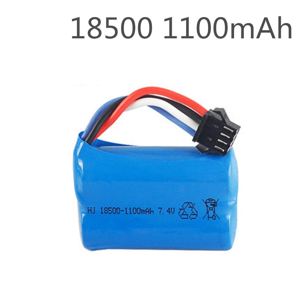 18500 7.4V 1100mAh Lipo Battery For UDI 001 UDI001 Huanqi 960 Remote Control Boat Speedboat With SM-4P Plug Upgrade 3.7V*2