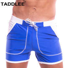 Taddlee Brand Sexy Swimwear Mens Swimsuits Solid Swim Boxer Trunks Surf Board Briefs