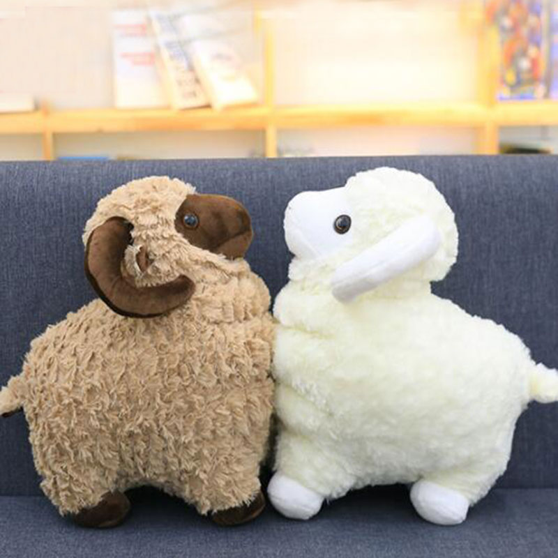 Cxzyking Cute Goat Lamb Soft Plush Toys 3 Colors Stuffed Sheep Soft