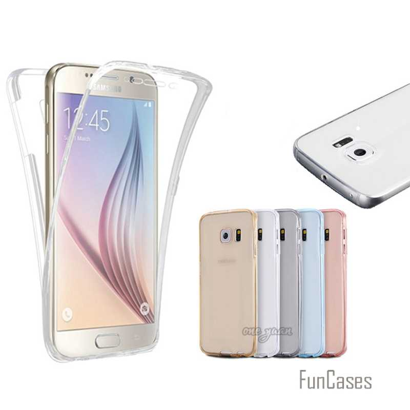S7/S7 Edge Clear Flexible Soft TPU Case Cover For Samsung Galaxy S7 Edge 360 Degree Full Body Protection Phone Cases Accessories