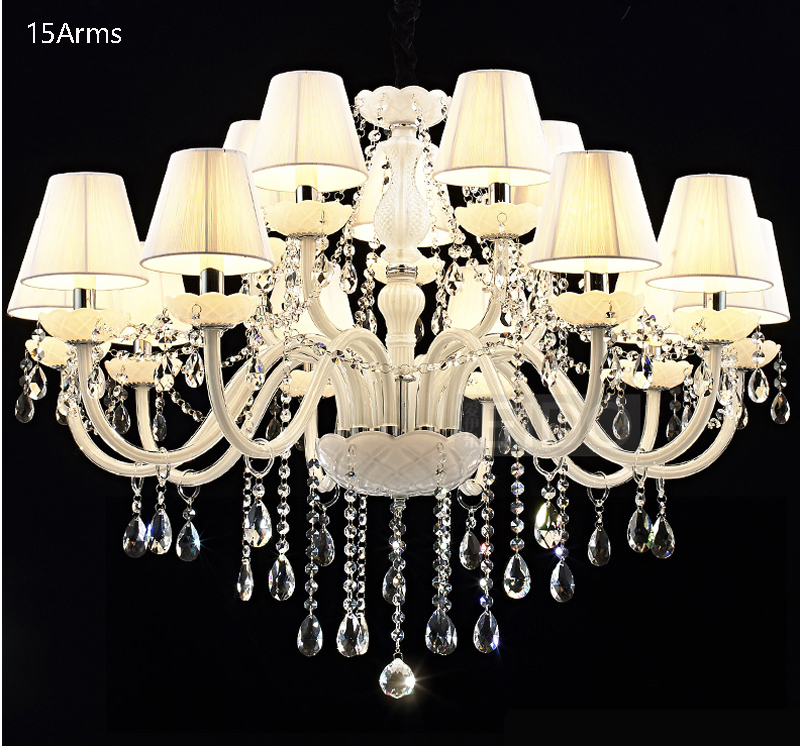 люстра chandelier 6 arm SHIXNIMAO Luxury Electric Crystal Chandelier 6Arm/8Arm/10Arm/15Arm Crystal lamp Crystal Chandelier
