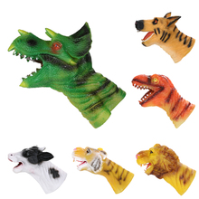 Super soft Hand Puppet Simulation Soft Vinyl Animal Dog Dinosaur Hand Puppet Kids Child Developmental Toy Educational Toys Gift