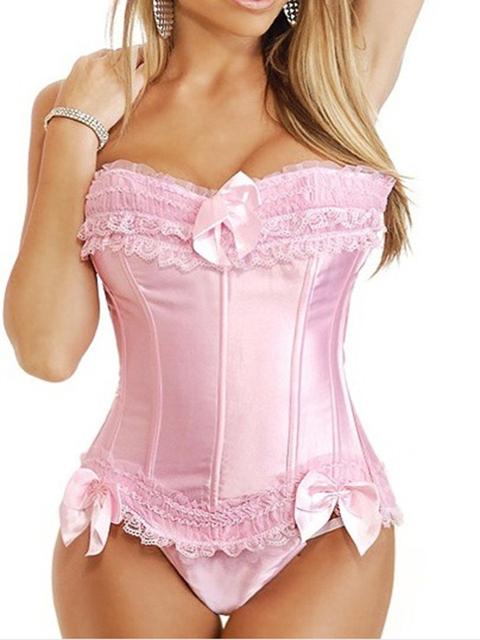 Hot Sale Corset Lingerie Sexy Dobby Waist vest corset bustiers and corsets new pink colors