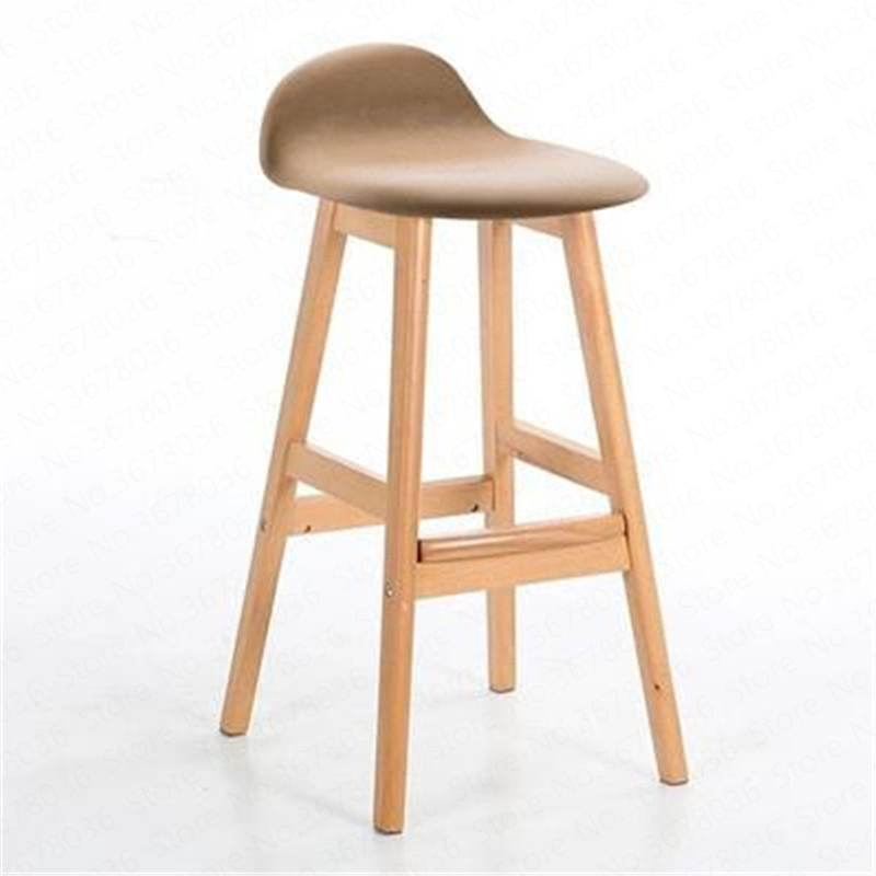 Modern Creative  Bar Chair Solid Wooden Bar Chair Northern Wind Fashion Kitchen Room Nordic Counter Stool