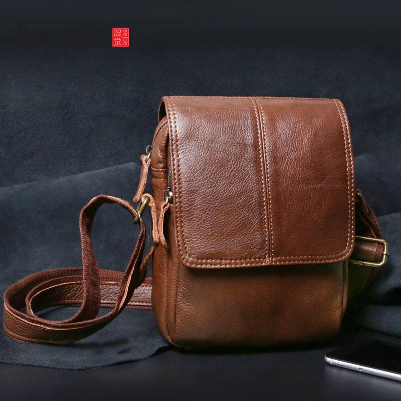 AETOO New shoulder bag leather men bag casual leather men's bag small
