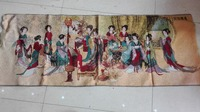 Tibet exquisite silk embroidered Thangka Buddha Thangka Thangka paintings of Red Mansions Home Furnishing Qunfang map