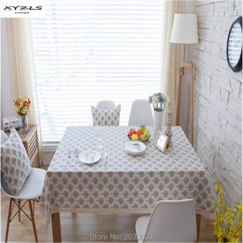 Style Simple Set de Table,Tapis Western en Coton imprimé Peinture à lhuile de Lotus Placemats A, 6 pièces