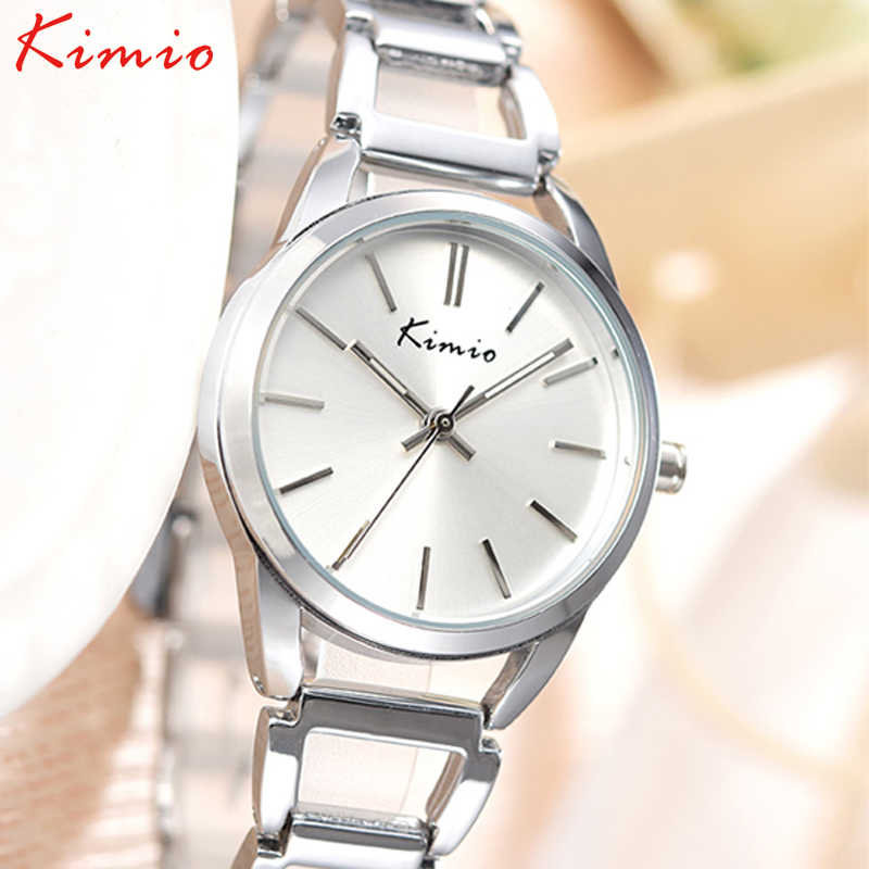 KIMIO Women Bracelet Watches Creative Designer Metal Chain Strap Quartz Lady Wrist Jewelry Table relojes mujer