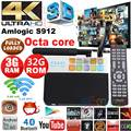 S912 CSA93 Android 6.0 Caixa De TV Amlogic Octa Núcleo 2G/16G 3G 32G 1000 M LAN WiFi 2.4G/5.8G H.265 4 K Media Player Set top box PK X92