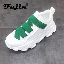 Fujin Sneakers Women Thick Soled Platform Shoes Small White Mesh Ventilation Summer Female Casual 5 Color