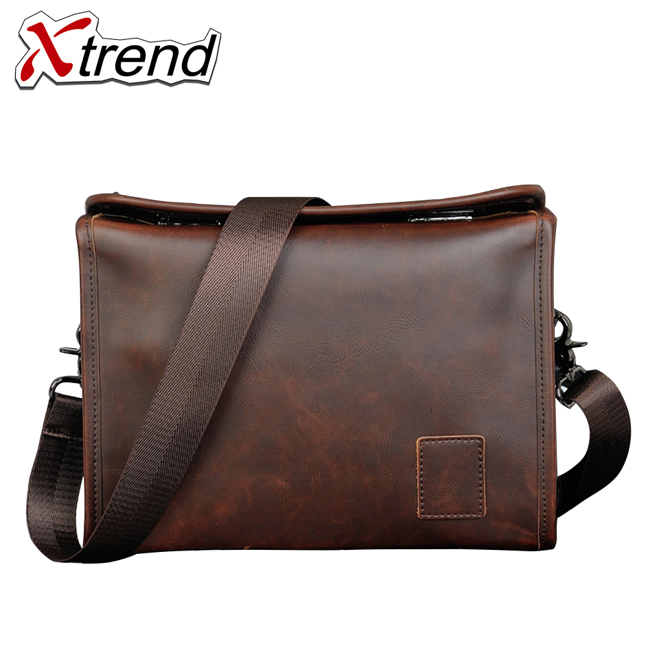 Xtrend Brand Crazy Horse PU Leather Laptop Bag 2017 Cover Handbag High Quality Mens Business Bag Male Office Briefcase for Men