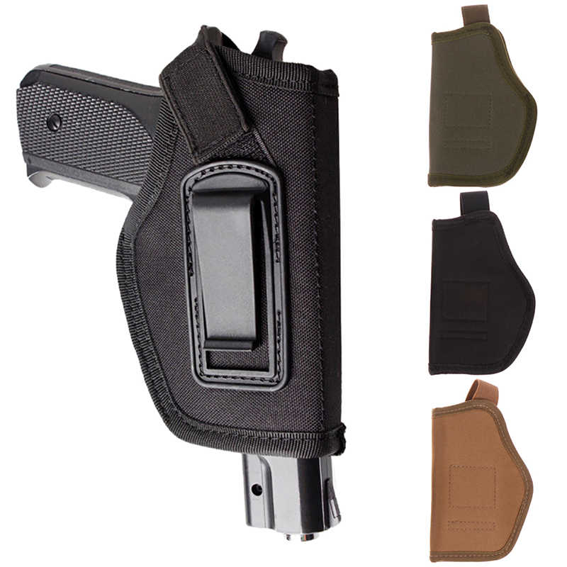 Holster Concealed Soft Comfort Nylon Metal Clip Tactical Waist Sleeve Right Hand Type Revolver Glock Colt HOT