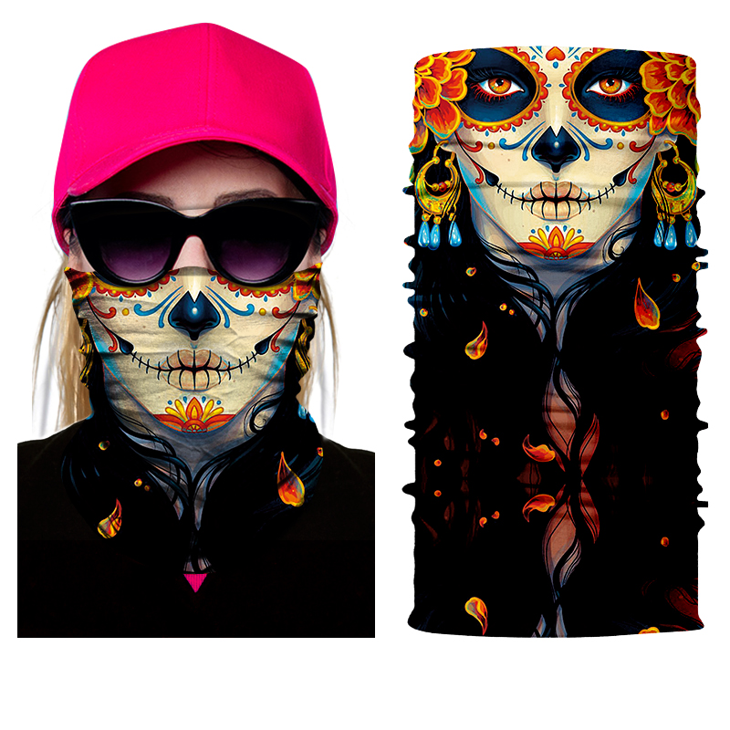 BJMOTO NEW Scary Skull Masks Skeleton Easter Motorcycle Bicycle Riding Headwear Scarf Half Face Mask Terror Cap Neck Ghost bicycle ski motor bandana motorcycle face mask skull for motorcycle riding scarf women men scarves scary windproof face shield