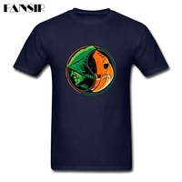 Tamaño grande Verde Flecha Slade Deathstroke Yin Yang Rock Camiseta Para Hombres de Manga Corta Cuello Redondo de Algodón de Los Hombres Camisetas de Ropa de Adolescentes