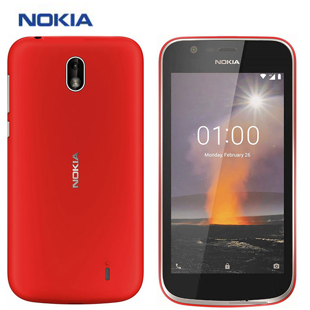 "New Original Nokia 1 Mobile Phone 4G LTE TA-1047 4.5"" Quad Core 1GB RAM 8 GB ROM Android 8.1 Dual SIM 2MP 5MP Smart Phone"