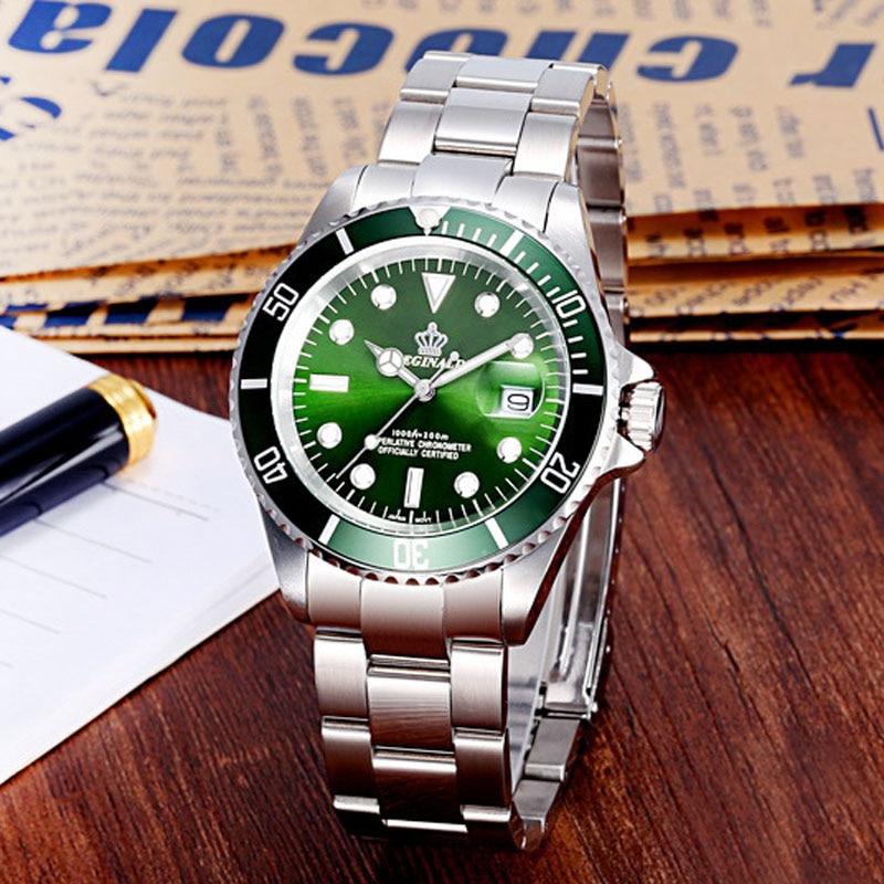 2020 Top Brand Luxury REGINALD Crown Quartz Watch Stainless Steel Men Watch Men Sports Watches Relogio Masculino Mannen Horloge