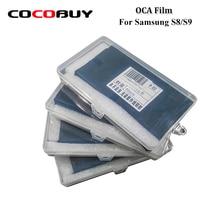 Novecel 50pcs OCA Optical Clear Adhesive For Samsung Galaxy S8 S9 GAODI MT KAWIN YMJ OCA Glue LCD Touch Glass Lens Film цена и фото