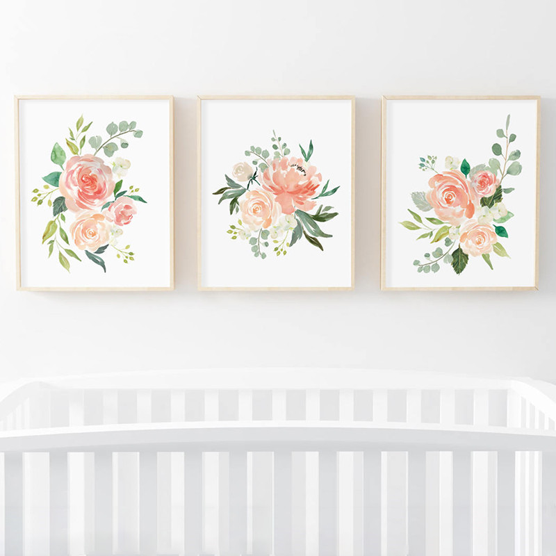 Watercolor-Flowers-Posters-and-Prints-Set-Of-3-Floral-Prints-Nursery-Wall-Art-Pictures-Bedroom-Decoration