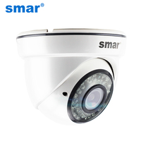 Smar H.265 1080P 20FPS HD Dome IP Camera With 4X Zoom 2.8 12mm Manual Varifocal Lens 36 IR Leds High Quality Plastic Case New