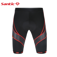 Santic Men Road Bike MTB Shorts Anti Slip 4D Coolmax Padded Cycling Shorts Bicycle  Cycling Clothings Short Ciclismo Triathlon