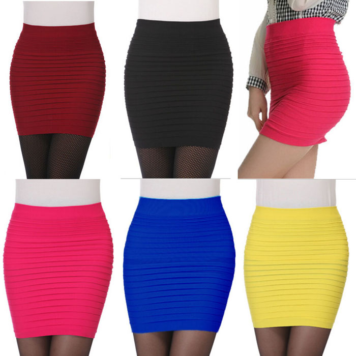 Women's Pleated Bag Hip Skirt Women's Fashion New Mini High Waist Package Hip Short Skirt