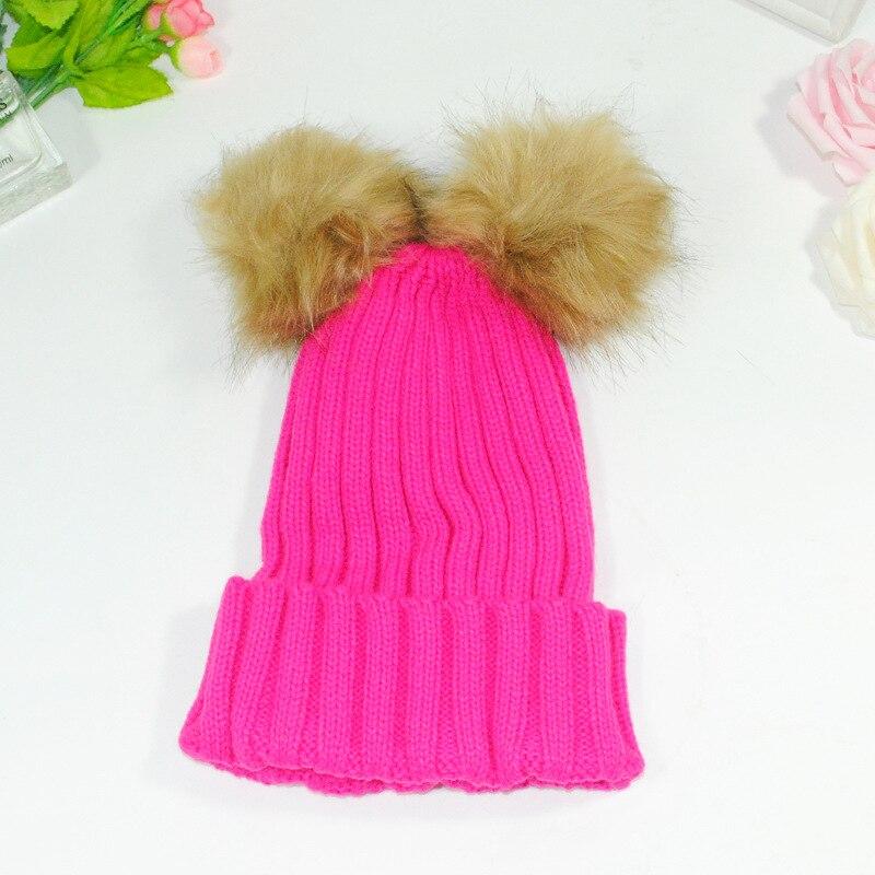 Real Mink Fur Pompom Hat Women Winter Caps Knitted Wool Cotton Hats Pom Poms Skullies Beanies Female Cap