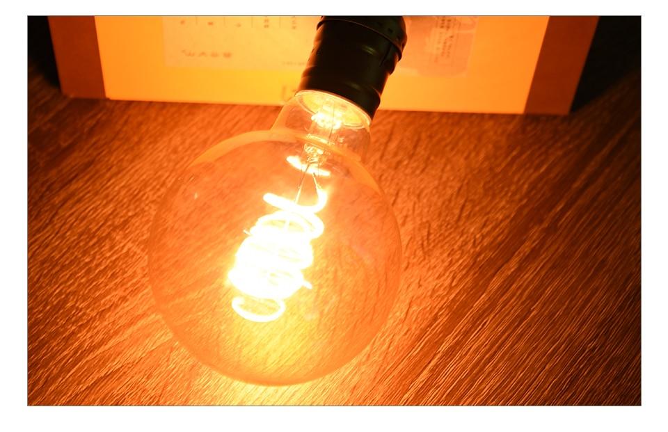 A60 ST64 G80 G95 Spiral LED Lamp Light Bulb LED Filament Bulb (12)