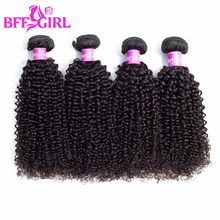 hot deal buy bff girl mongolian kinky curly hair bundles 100% human hair 1/3/4 bundles 10-30 inches natural color remy hair weaves extensions