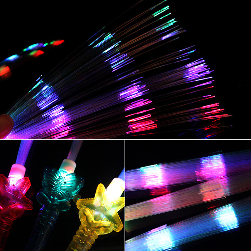 Party Glow Stick Rainbow Color Easy Operate Shows Fiber