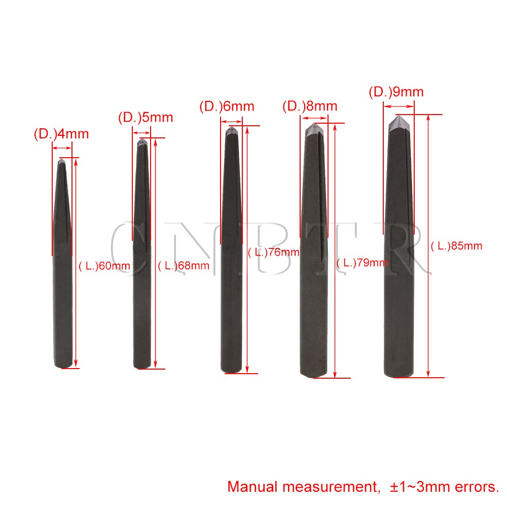 5 Sizes 1//8-3//8 Square Grey High Carbon Steel Screw Extractor Set Remover
