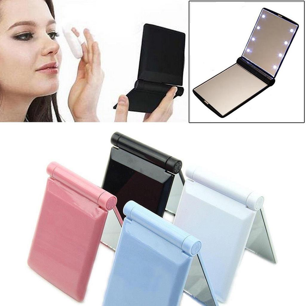 Schönheit & Gesundheit Verantwortlich Faltbare Led Spiegel Make-up Kosmetische Folding Tragbaren Compact Tasche Spiegel Lampe Mädchen 8 Led Licht SorgfäLtige FäRbeprozesse