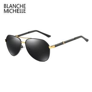 Image 5 - Di alta Qualità Pilot Occhiali Da Sole Polarizzati Uomini UV400 di Guida Occhiali Da Sole Uomo Vintage Occhiali Da Sole Uomo 2020 okulary oculos Con La Scatola Polarized Sunglasses Men