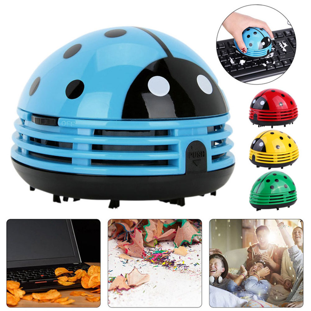 Hot Lovely Mini Ladybug Desktop Coffee Table Vacuum Cleaner Dust Collector for Home Office HY99 AU23Hot Lovely Mini Ladybug Desktop Coffee Table Vacuum Cleaner Dust Collector for Home Office HY99 AU23