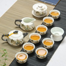 Snowflake glaze kung fu tea set ceramic teapot bowl