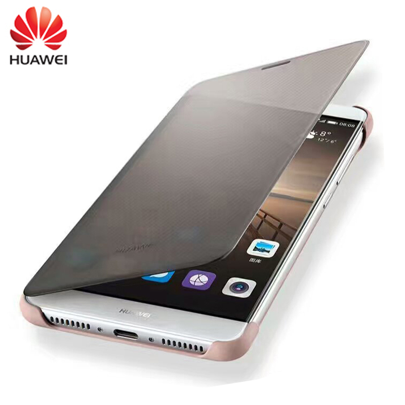 "100% Original Case For Huawei Mate9 Case Luxury Smart View Flip Cover Leather Protective Shell For Huawei Mate 9 (5.9""inch) Easy To Use"