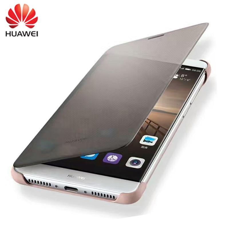 """imágenes para 100% Original para HUAWEI Mate 9 Caso de Lujo Smart View Cubierta de Cuero Del Tirón shell Protector Para Huawei Mate 9 (5.9 """"pulgadas)"""