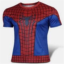 Brand leisure spiderman T-shirt Summer fashion men's short sleeve T-shirt cartoon surrounding the wholesale and retail