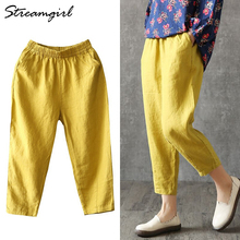 Vintage Women Linen Pants Plus Size 2019 Summer Pant