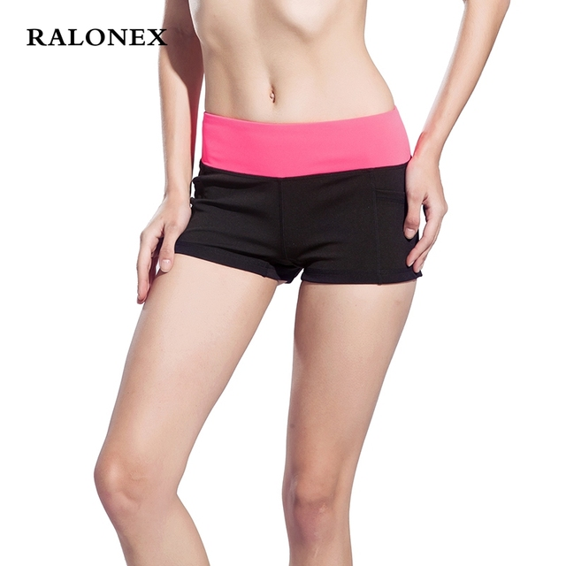 Women Fitness Sports Shorts High Waist Elastic Running Gym Short Yoga Quick Dry Breathable Short Pants Fitness Womens Gym Shorts