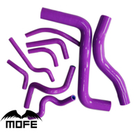 Mofe 9 pçs roxo silicone radiador mangueira kit para mitsubishi galant 2.0/2.5 98 98 05|radiator hose kit -