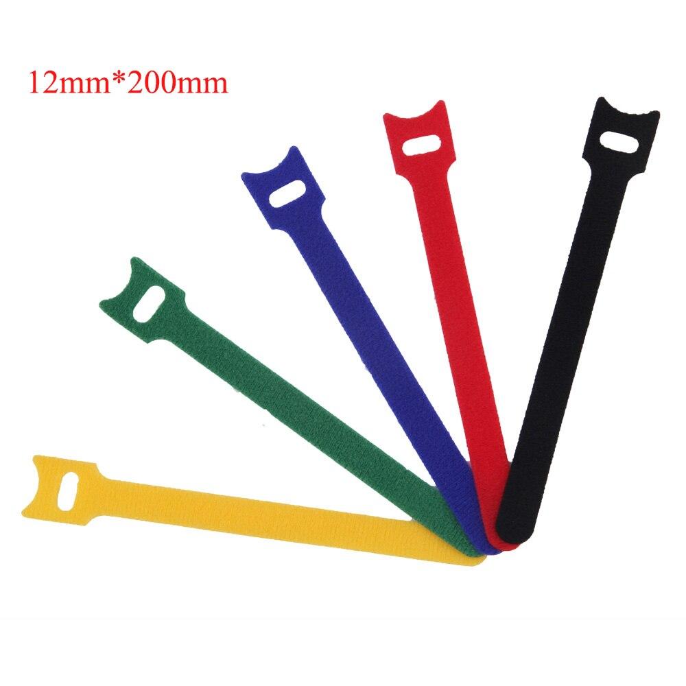 selbstklebende Krawatte 25m X Klettverschluss Befestigungsband Schwarz,