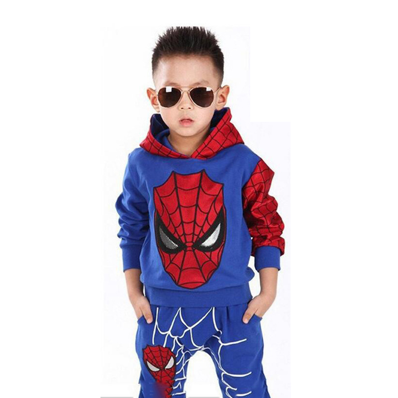 Spiderman Sport Suit Baby Boys Clothing Sets Spring Spider Man Cosplay Kids Costumes Clothes 1-5 Years spiderman suit children boys clothing set baby boy spider man sports suits kids clothing 2pcs sets spring autumn tracksuits