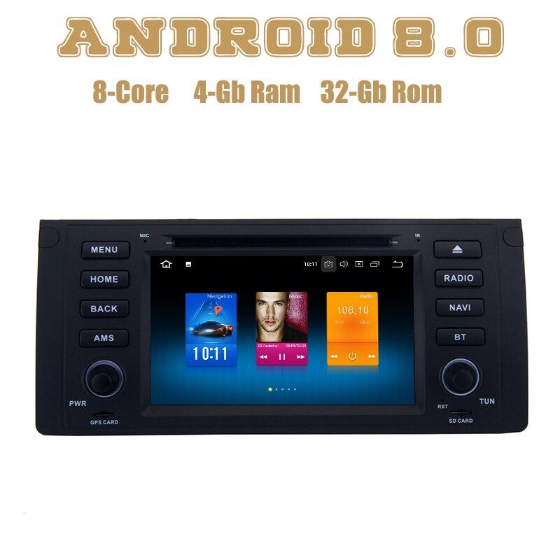 Octa core PX5 Android 8.0 dvd de voiture gps lecteur pour pour BMW 5 série E39 E53 X5 M5 avec wifi 4g usb Auto Stéréo