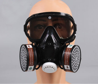 De Gaz industriels Respirateur Masque Avec Lunettes Anti-Poussière Intégré Charbon Actif Anti-brouillard Masque Pm2.5 Pesticides Peinture Pulvérisation