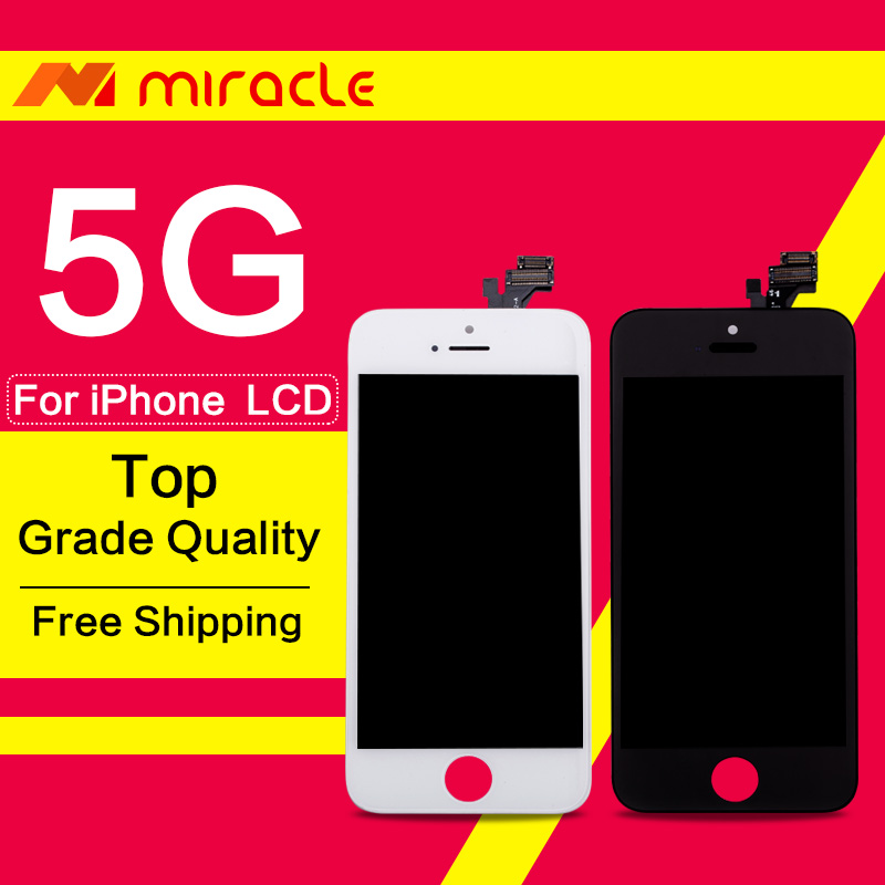 imágenes para De calidad superior highscreen garantía para iphone 5 5c 5s pantalla lcd reemplazo asamblea de pantalla táctil digitalizador envío libre de dhl