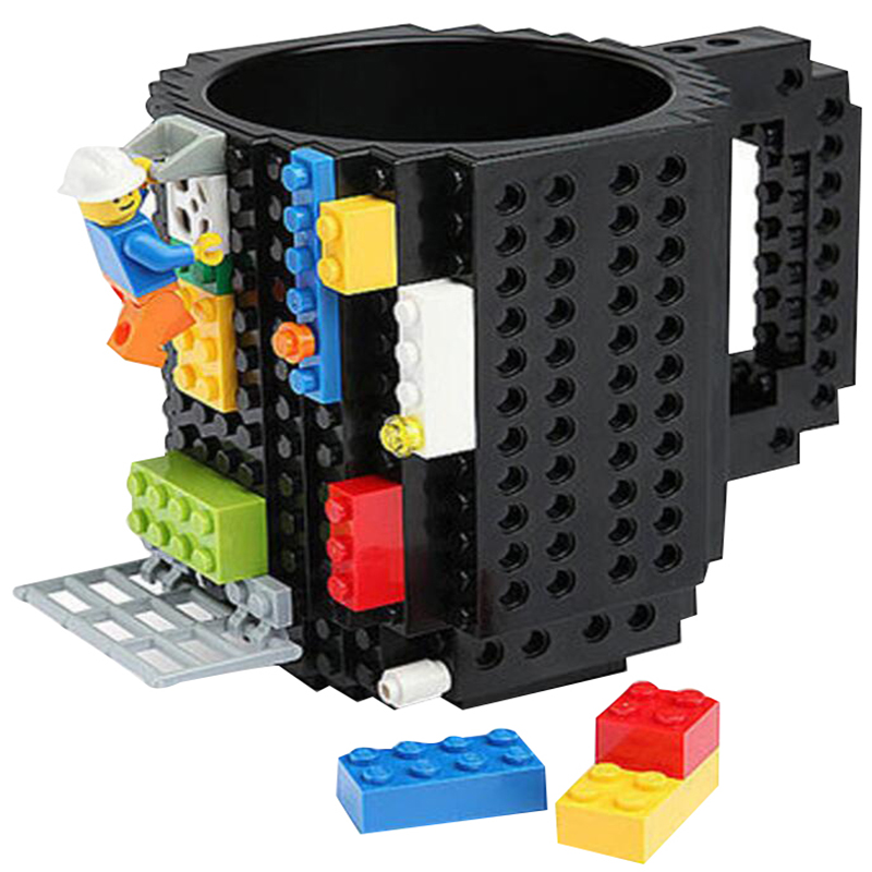 Build-On Brick Mug DIY Coffee Mugs Assembly Bulding Blocks Creative Drinkware Cups Legoe Mug Gift Cup With Building Blocks ...