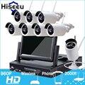 7 Inch Displayer 8CH 960P Wireless CCTV System Wireless NVR IP Camera IR-CUT Bullet Home Security System CCTV Kit Hiseeu